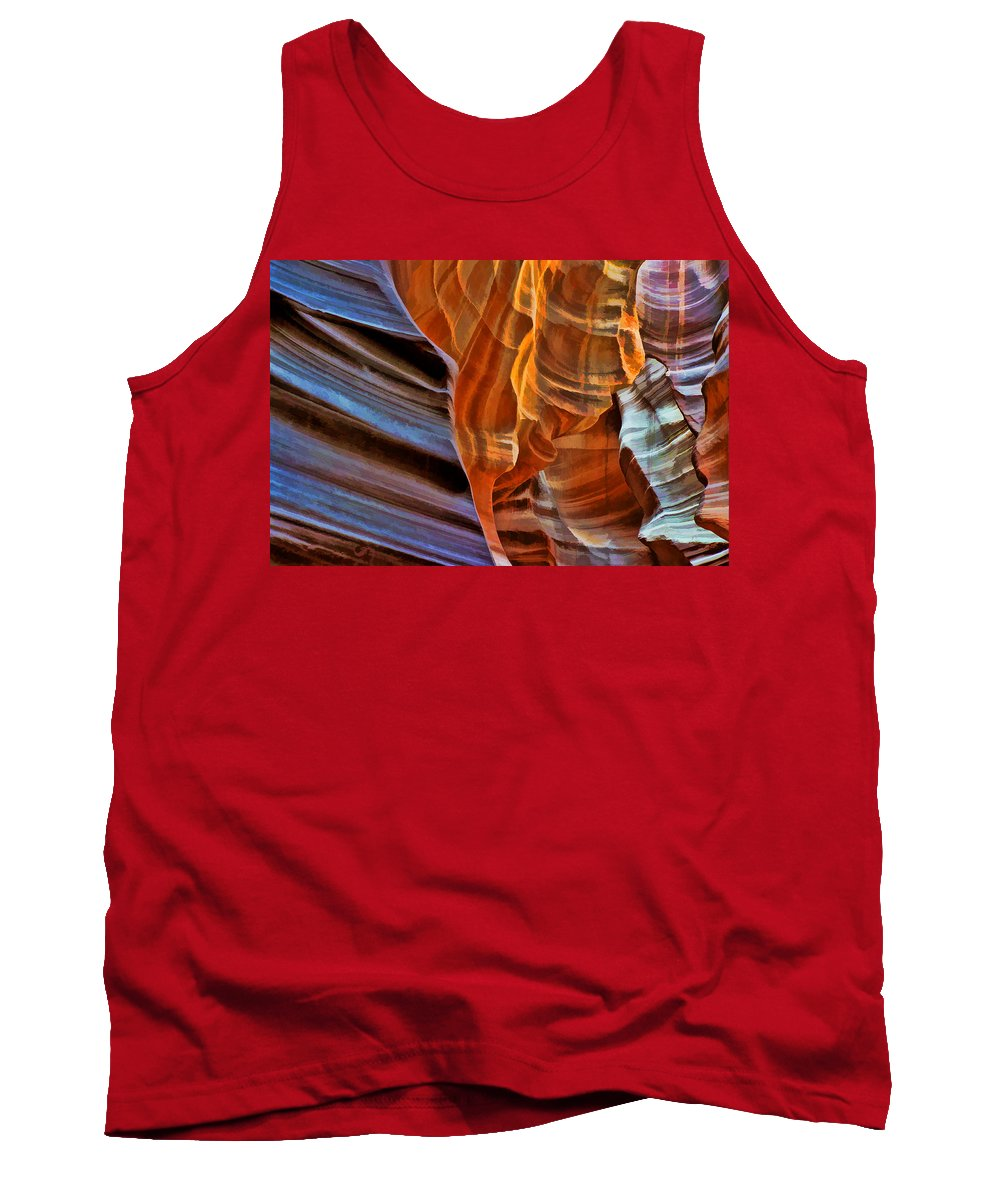 Canyon Tank Top featuring the photograph Slot Canyon by Allen Beatty