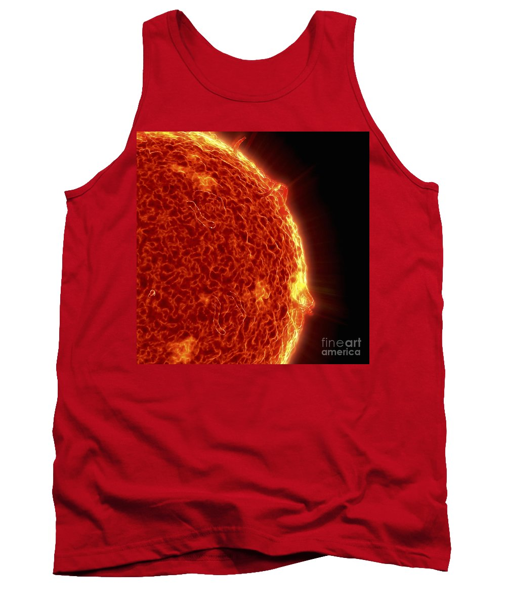 Star Tank Top featuring the photograph The Sun by Science Picture Co