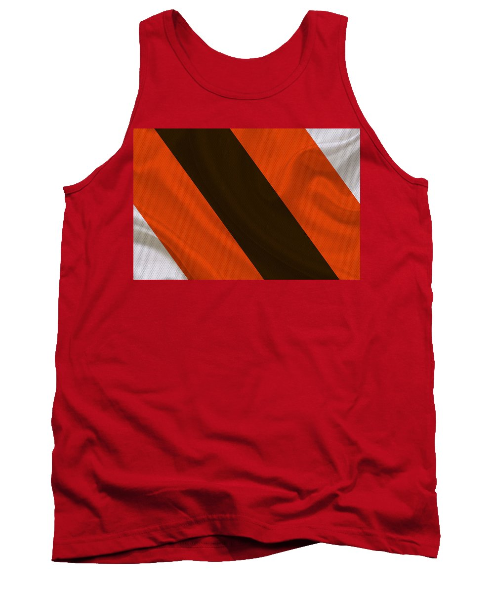 Browns Tank Top featuring the photograph Cleveland Browns by Joe Hamilton