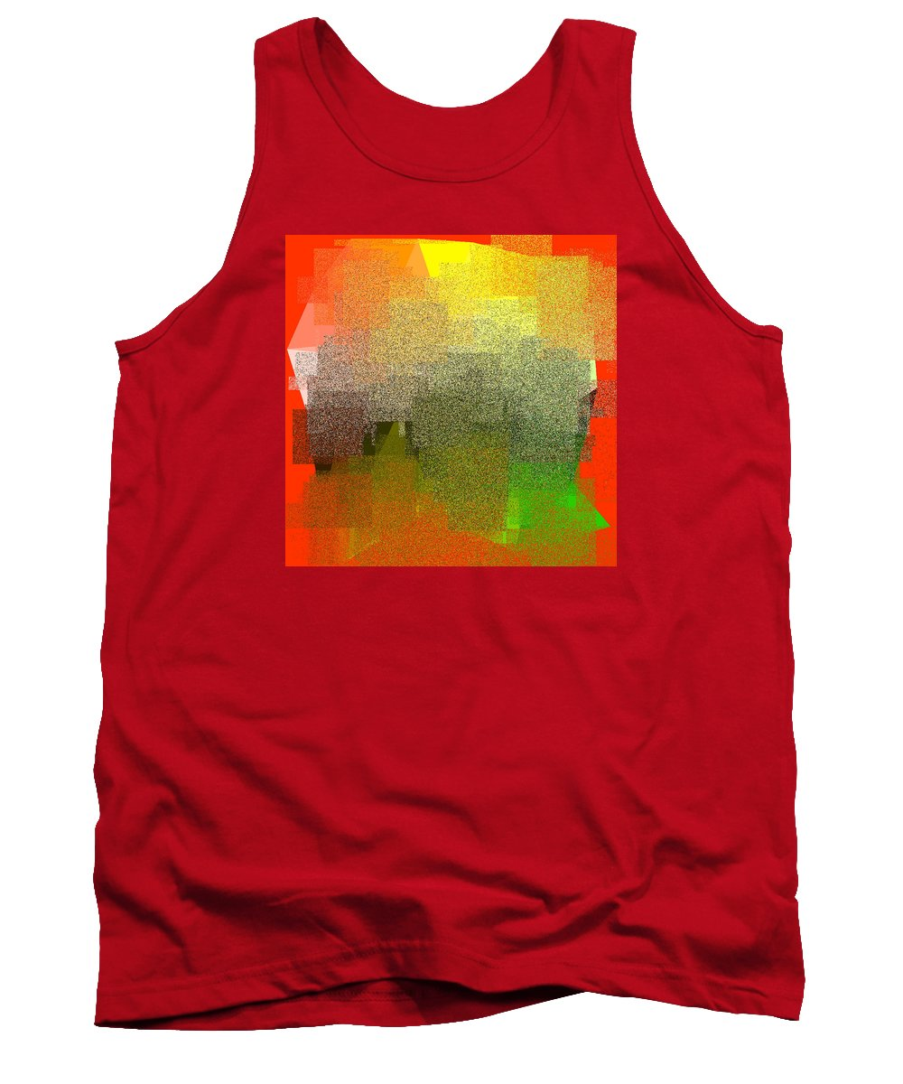 Abstract Tank Top featuring the digital art 5120.5.10 by Gareth Lewis