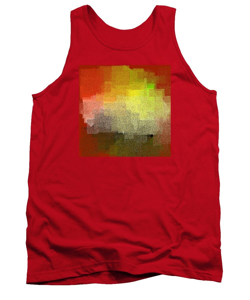 Abstract Tank Top featuring the digital art 5120.5.26 by Gareth Lewis