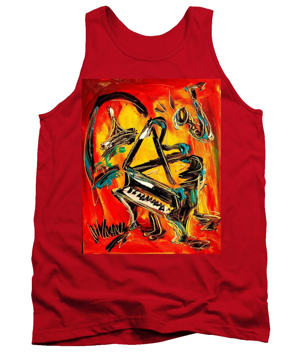 Tank Top featuring the painting Jazz by Mark Kazav