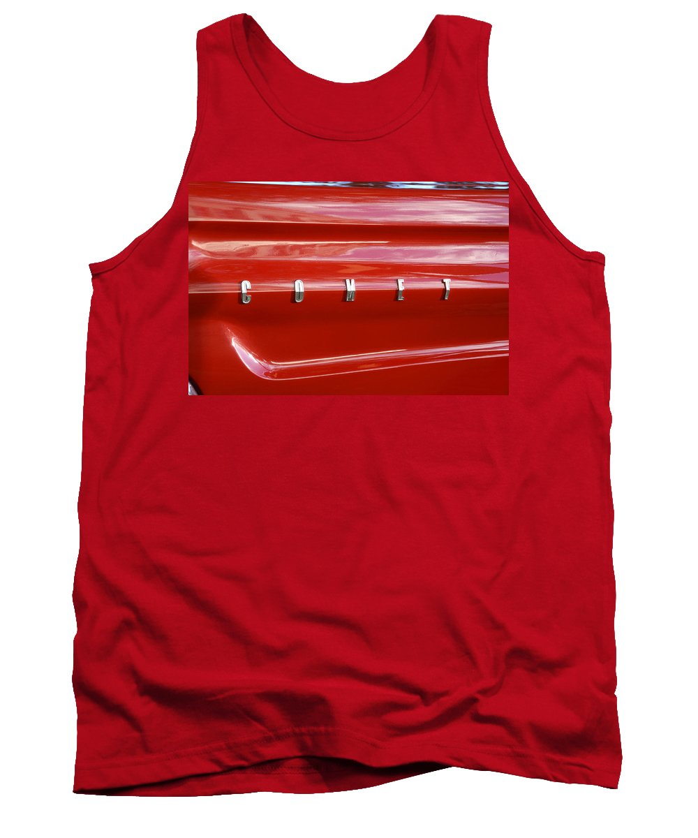 1964 Ford Comet Tank Top featuring the photograph 64 Red Comet by David Lee Thompson