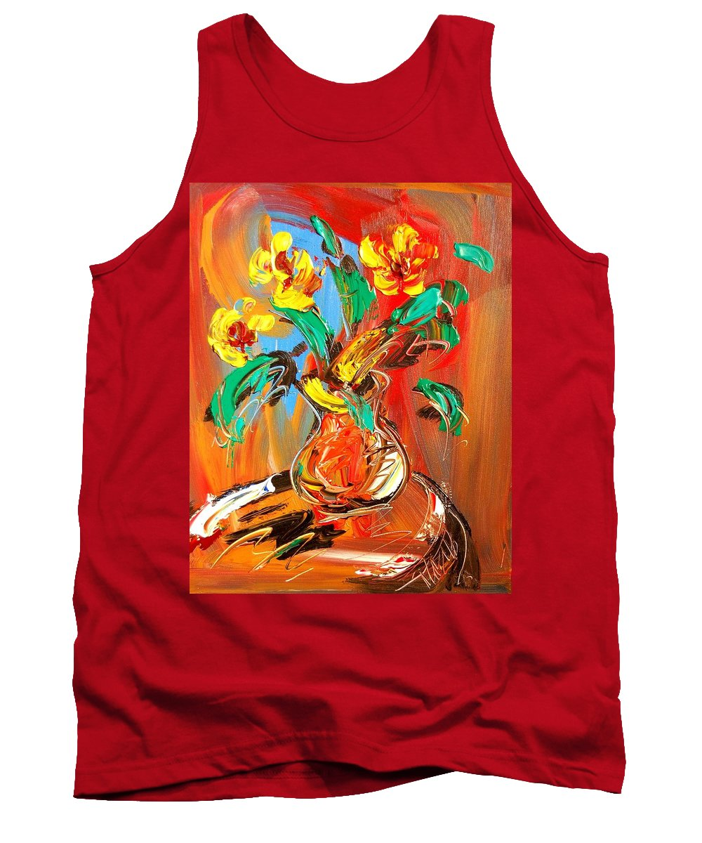 Tank Top featuring the painting Floral by Mark Kazav