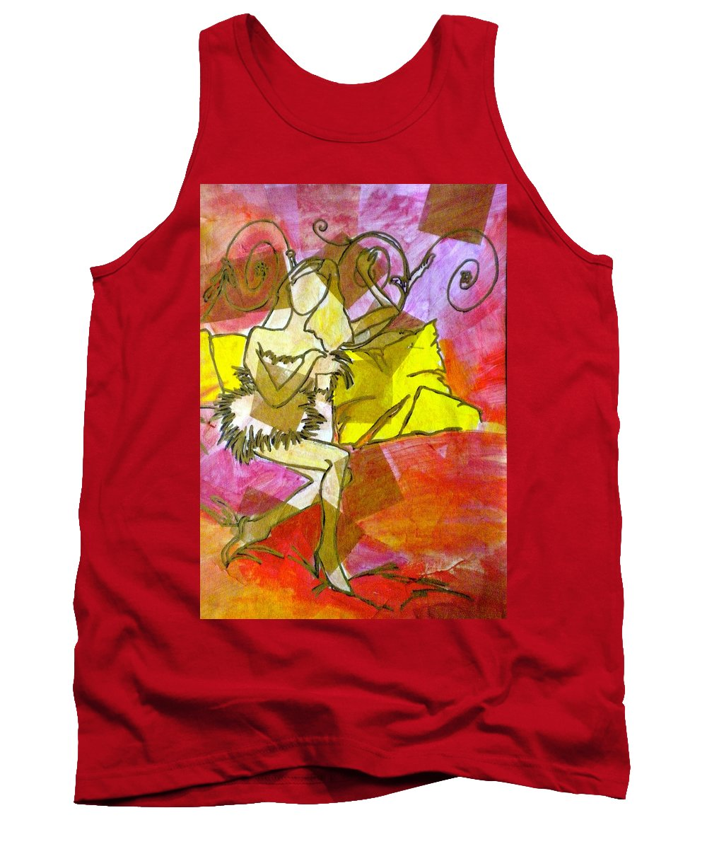 Woman Tank Top featuring the painting A Bit Of Whimsy by Debi Starr