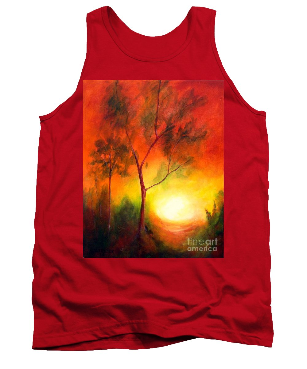 Landscape Tank Top featuring the painting A New Day by Alison Caltrider
