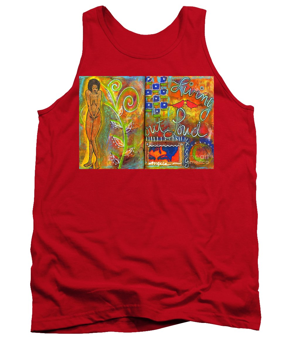 Journal Art Tank Top featuring the mixed media A Rebirth Of Sorts by Angela L Walker