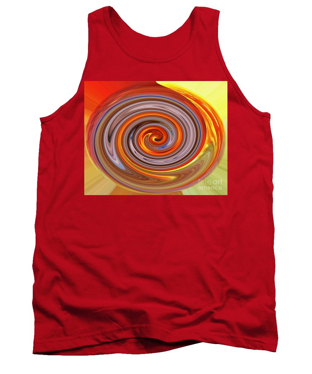 Jim Fitzpatrick Tank Top featuring the digital art A Swirl Of Colors From The Sun And Earth by Jim Fitzpatrick