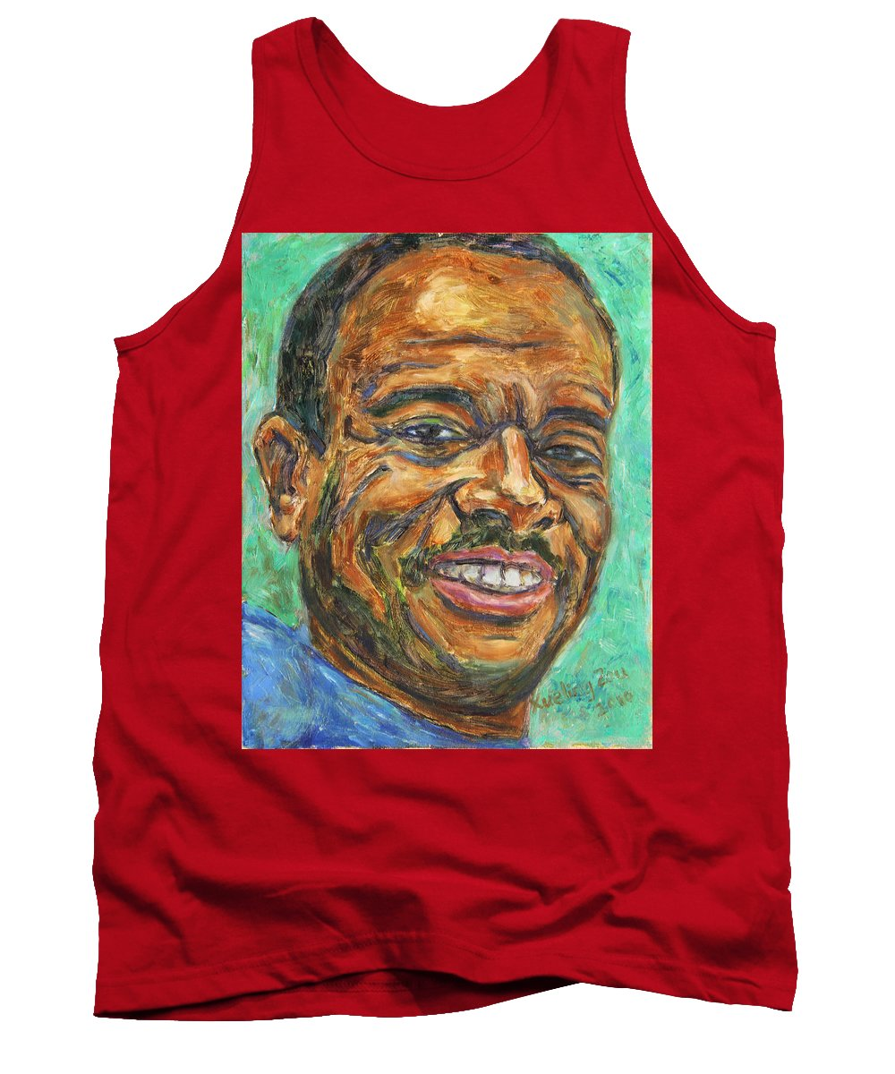 African American Tank Top featuring the painting A Teacher From Atlanta Ga by Xueling Zou