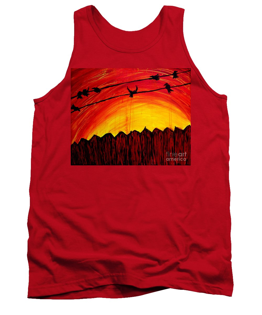 Early Morning Tank Top featuring the painting A Texas Sunrise by Brandon Lynch