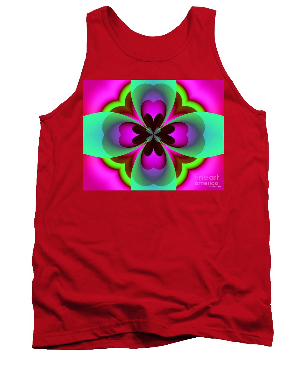 Abstract 169 Tank Top featuring the digital art Abstract 169 by Maria Urso