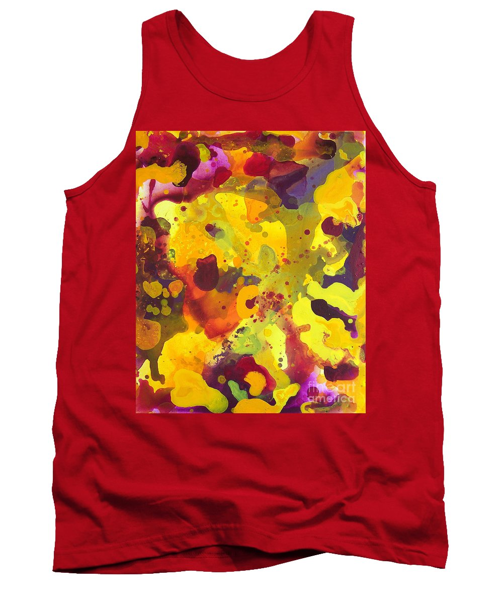 Brandon Tank Top featuring the painting Abstract 46 by Brandon Lynch