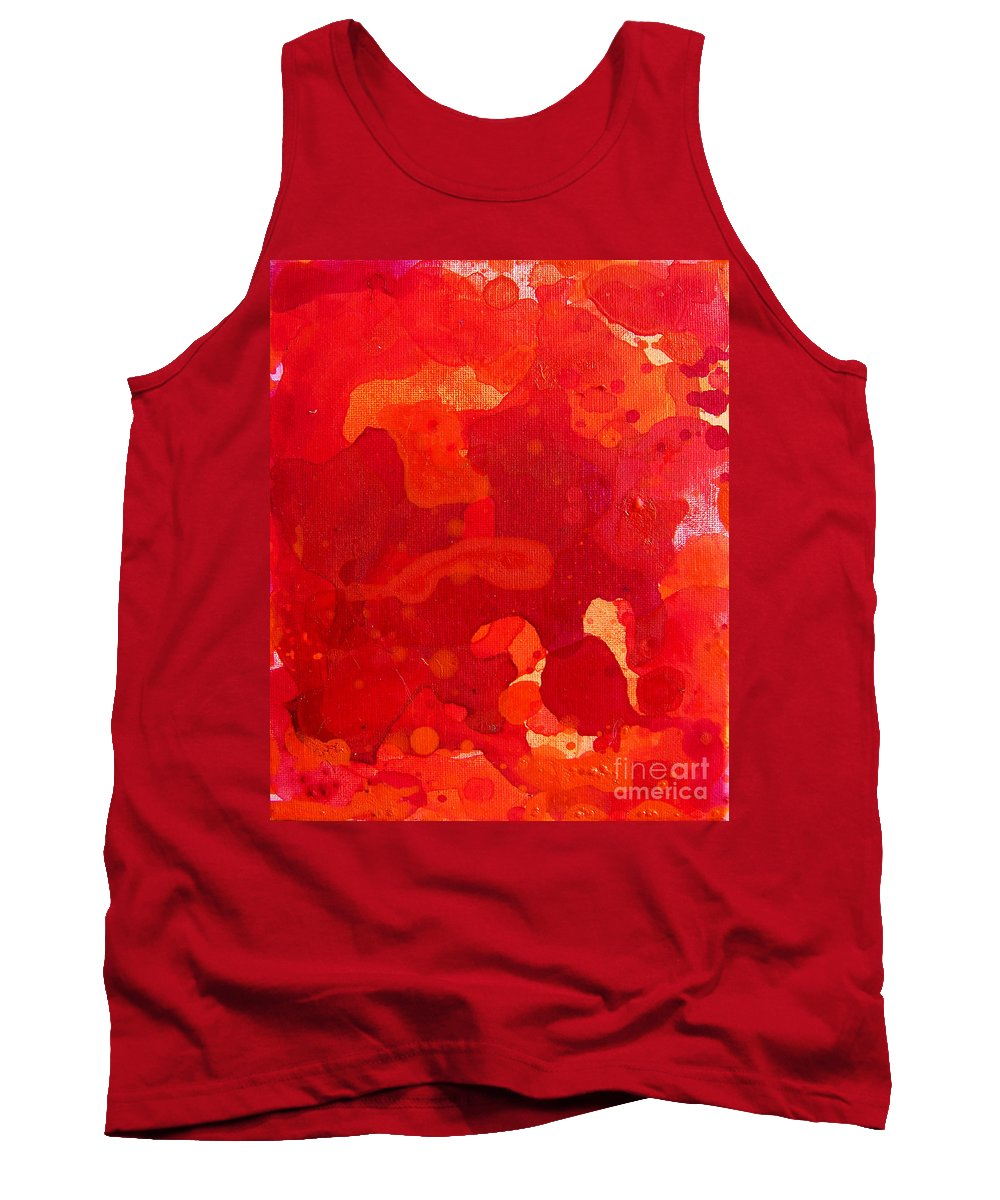 Brandon Tank Top featuring the painting Abstract 68 by Brandon Lynch