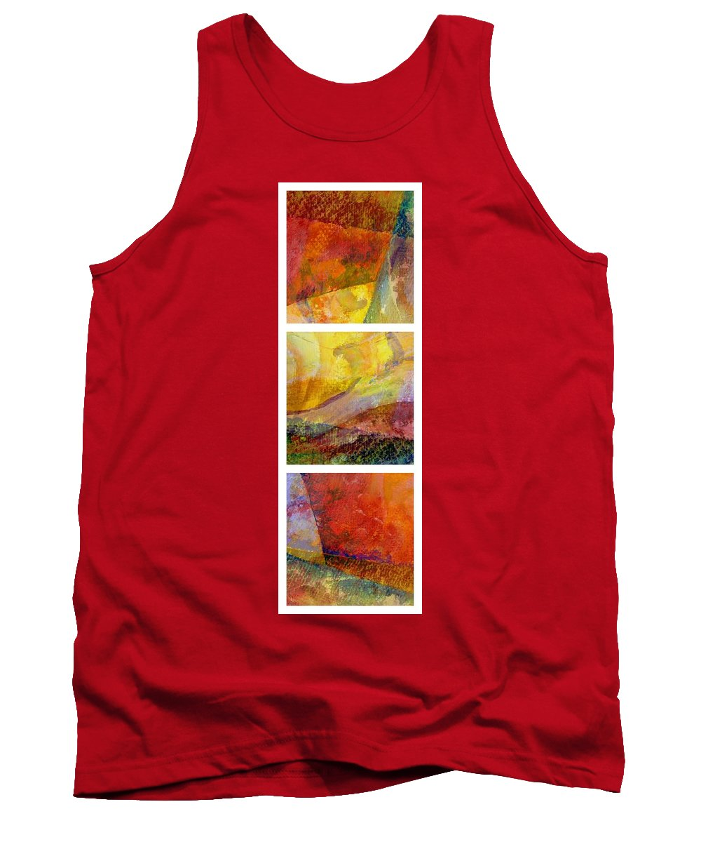 Abstract Collage Tank Top featuring the painting Abstract Collage No. 2 by Michelle Calkins