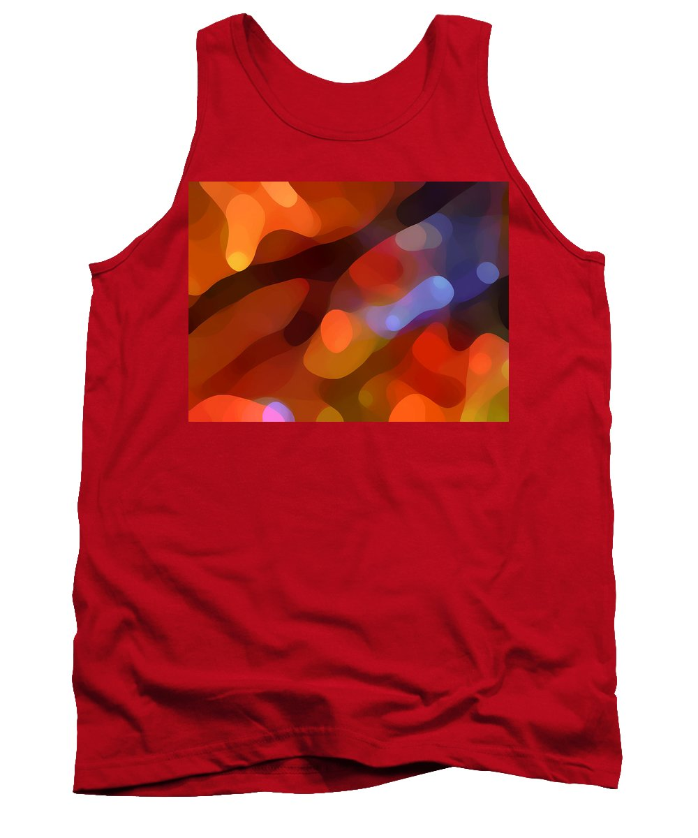 Abstract Art Tank Top featuring the painting Abstract Fall Light by Amy Vangsgard