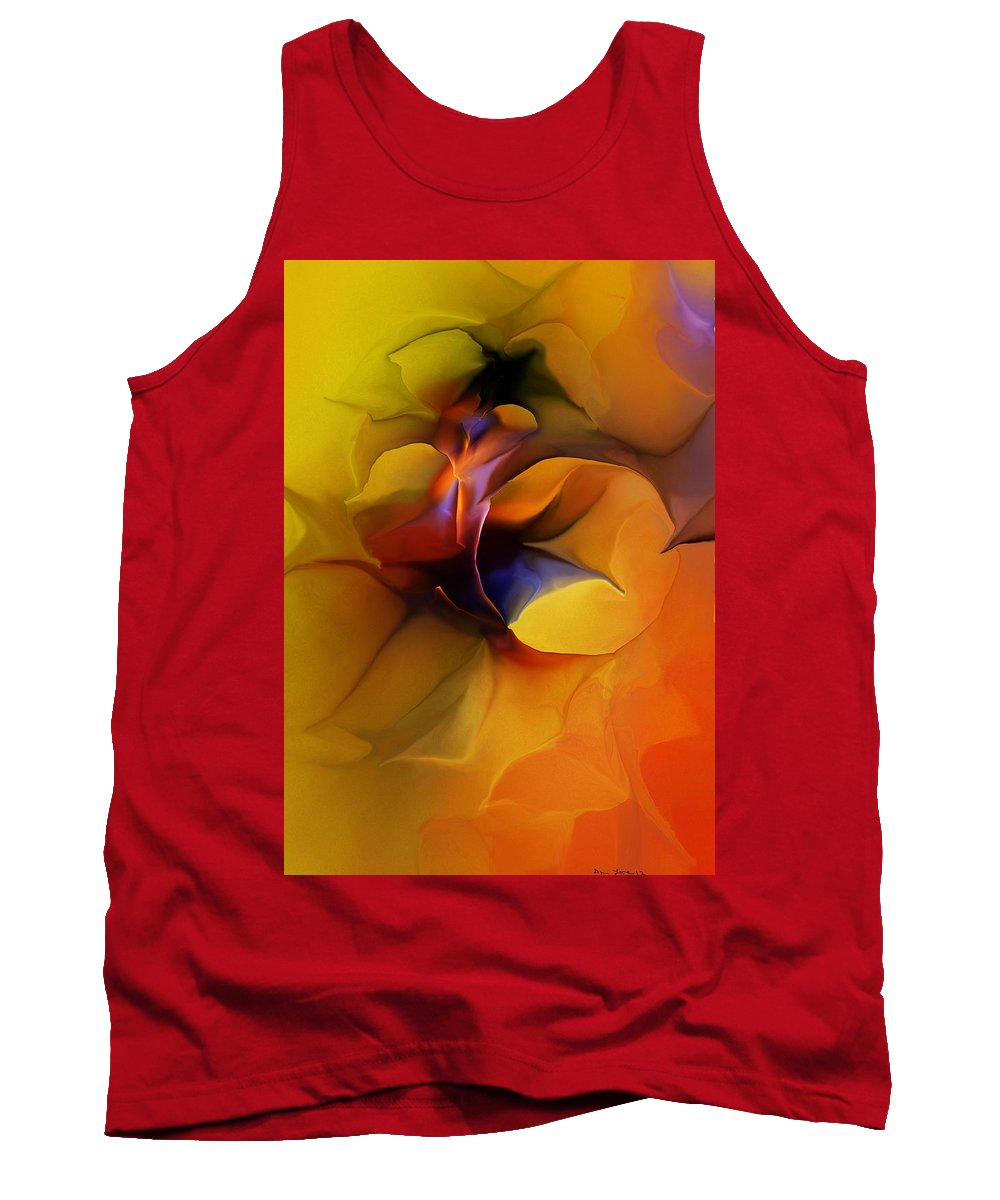 Fine Art Tank Top featuring the digital art Abstract From Within by David Lane