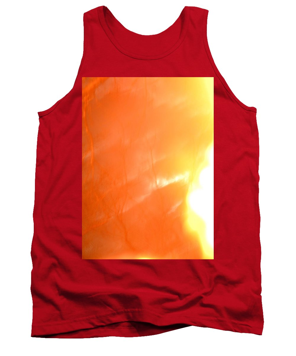 Abstract Frosted Sunlight Tank Top featuring the photograph Abstract Frosted Sunlight by Maria Urso