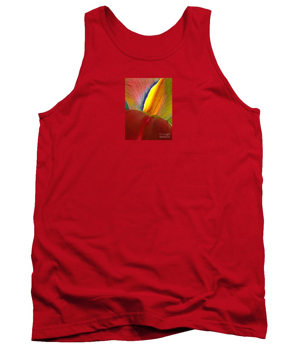 Abstract Tank Top featuring the photograph Abstract Iris 2 by Linda Parker