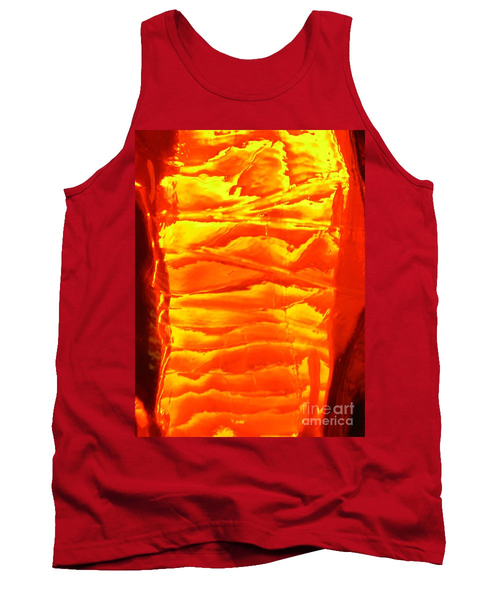 Orange Tank Top featuring the photograph Abstract Orange by Amanda Barcon