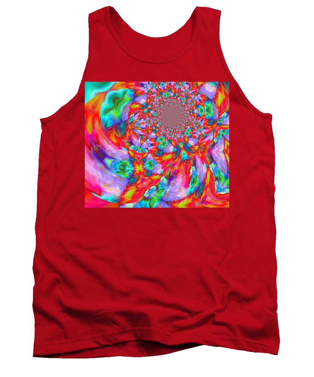 Abstract Tank Top featuring the digital art Aerial by John Holfinger