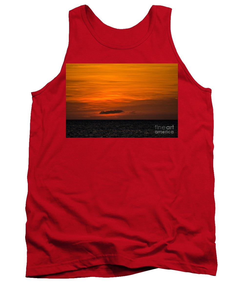 Aruba Tank Top featuring the photograph After Glow by Judy Wolinsky