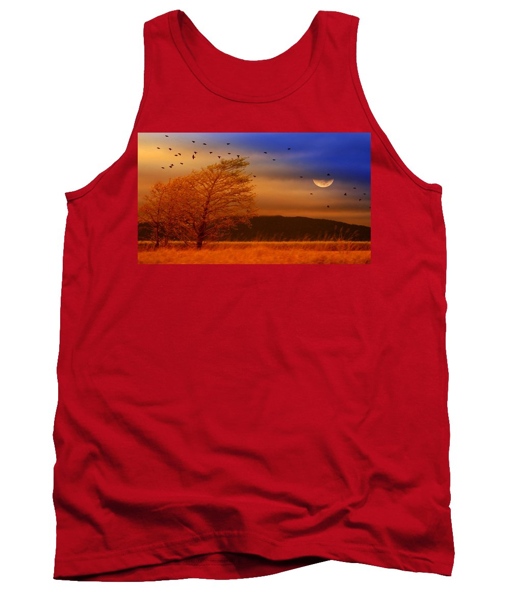 Landscape Tank Top featuring the photograph Against The Wind by Holly Kempe
