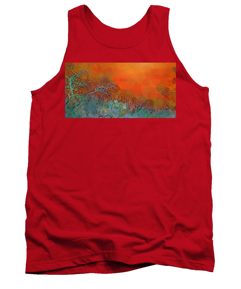 Abstract Tank Top featuring the photograph Amber Winter by Hal Halli