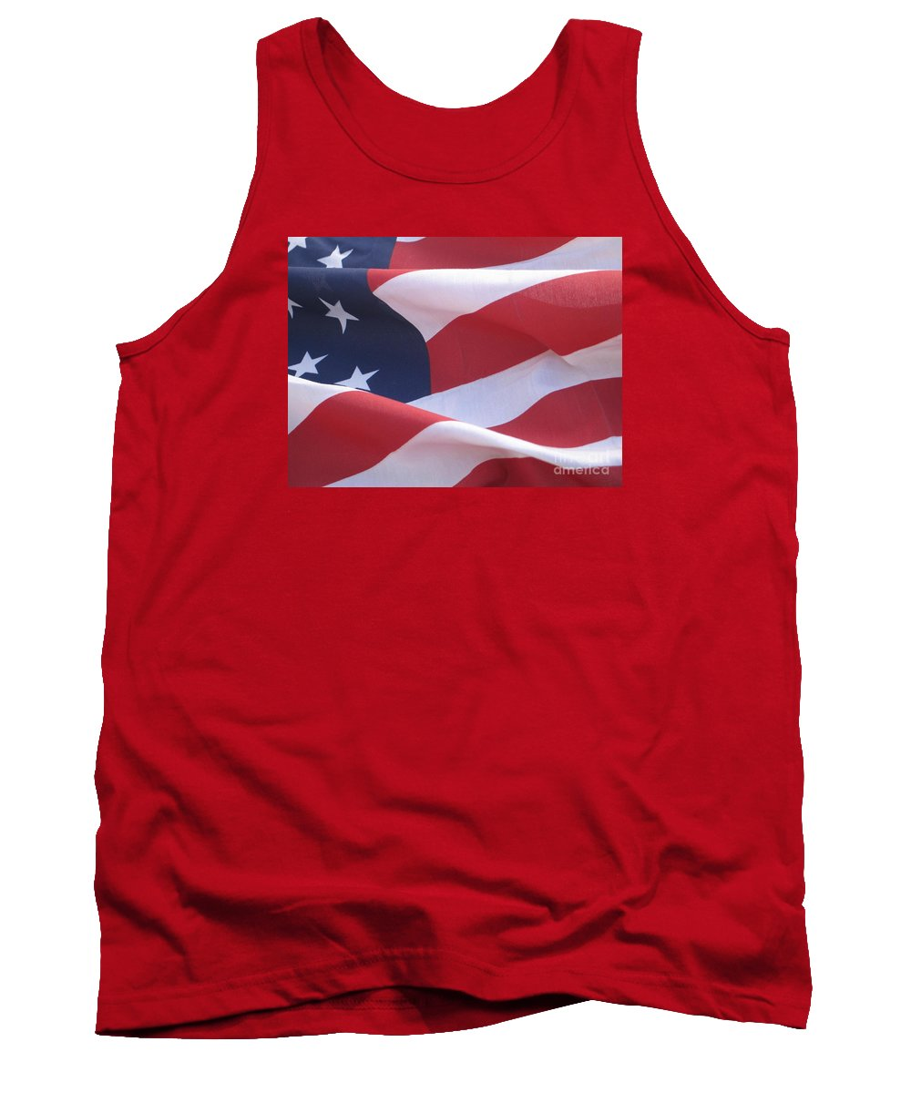 Photograph Tank Top featuring the photograph American Flag  by Chrisann Ellis
