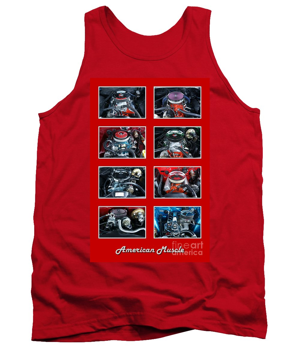 American Tank Top featuring the photograph American Muscle Red Poster by Olivier Le Queinec