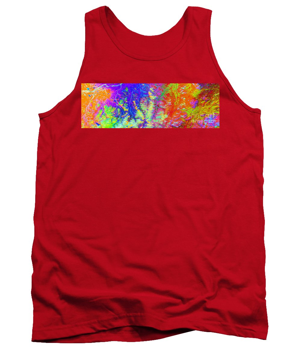 Russia Tank Top featuring the digital art Amguema Russia by Phill Petrovic