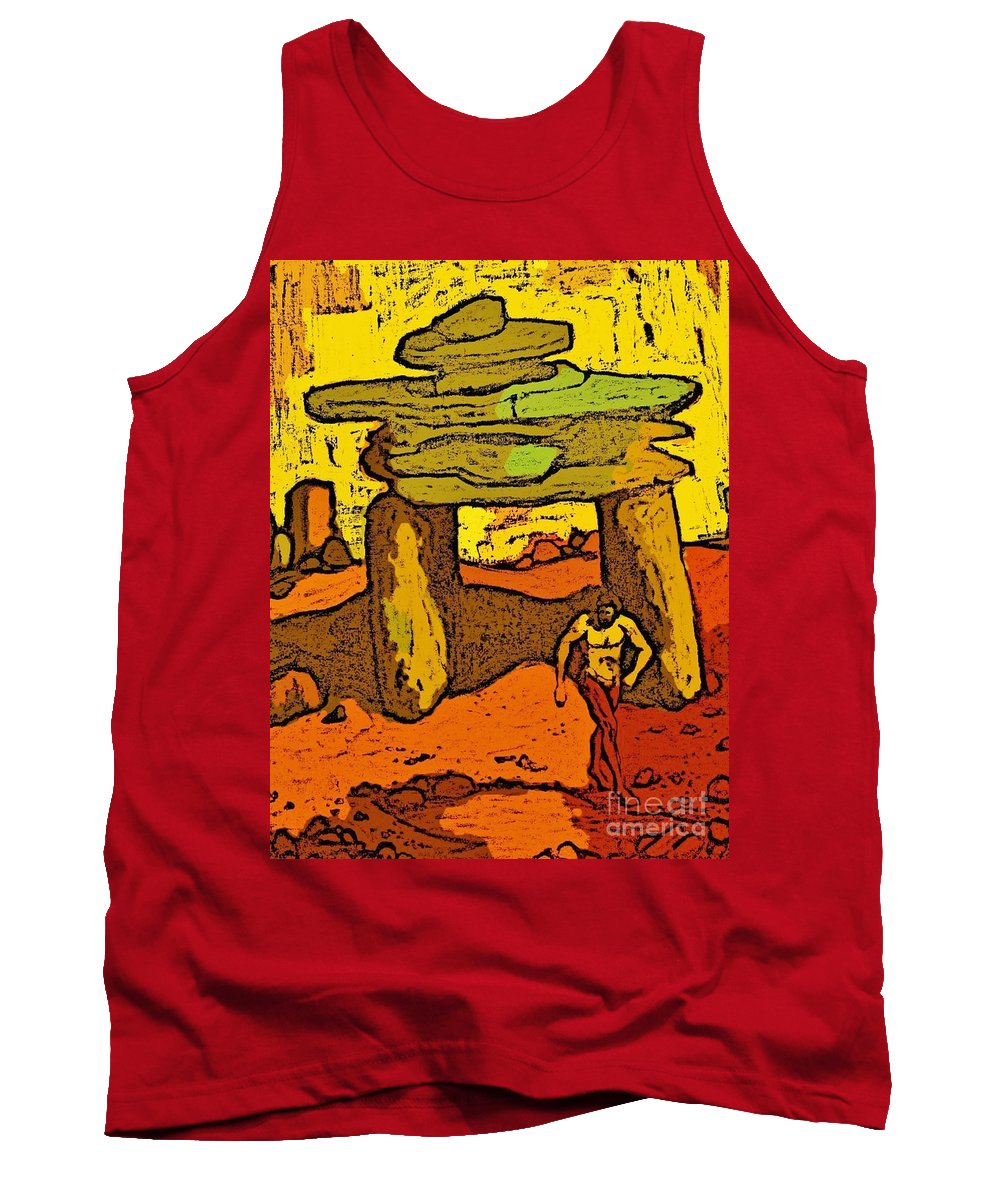 Ancient Tank Top featuring the digital art Ancient Sand Painting by John Malone
