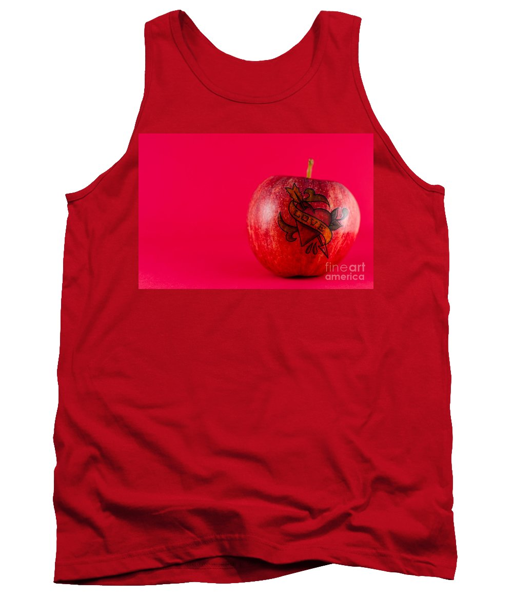 Tattoo Tank Top featuring the photograph Apple Love From Tattoo Series by Jonas Luis