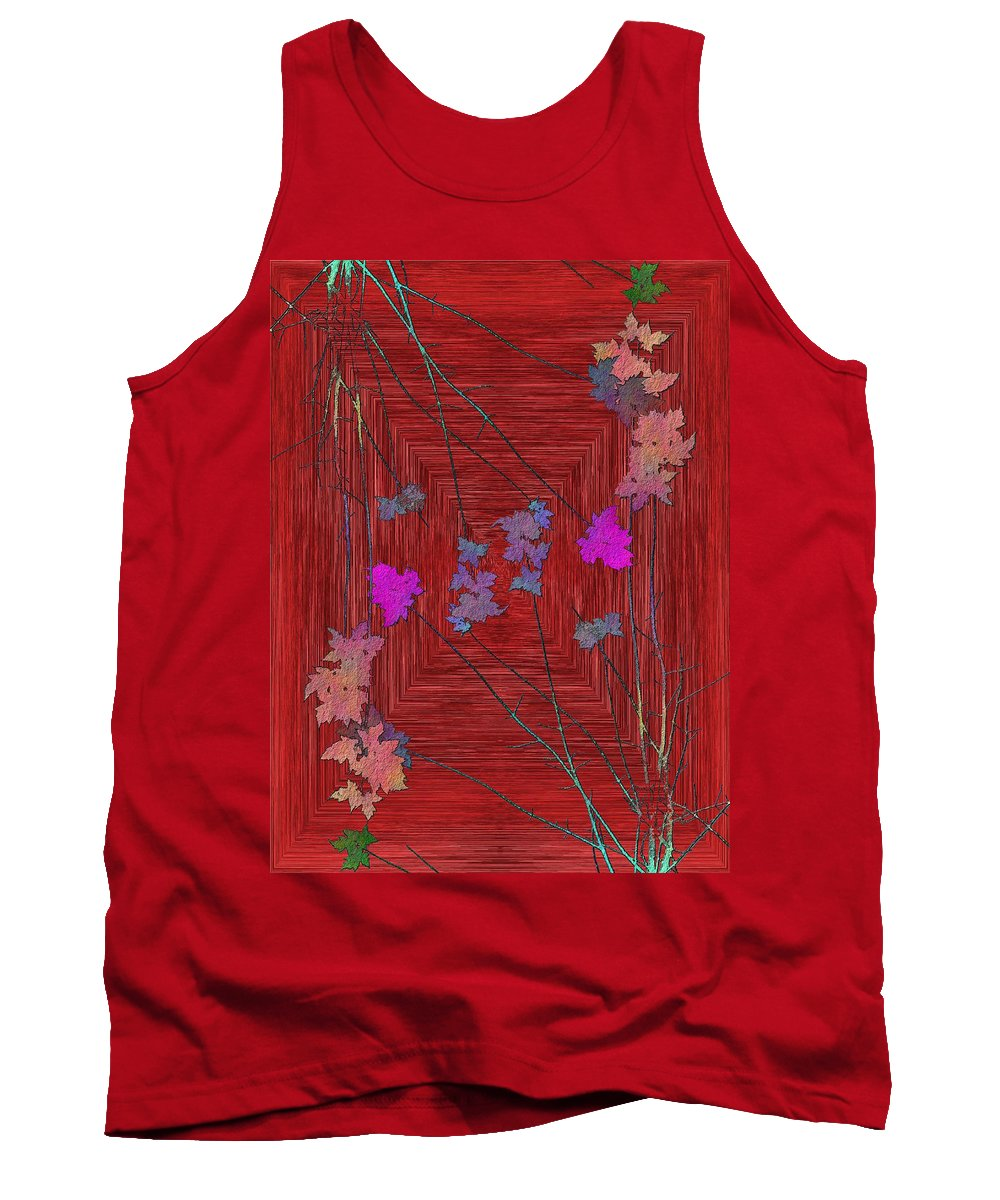 Tree Tank Top featuring the digital art Arbor Autumn Harmony 7 by Tim Allen