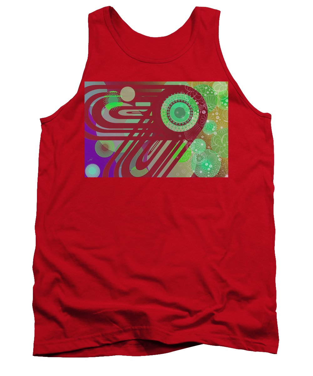 Wright Tank Top featuring the digital art Art Explosion 5 by Paulette B Wright