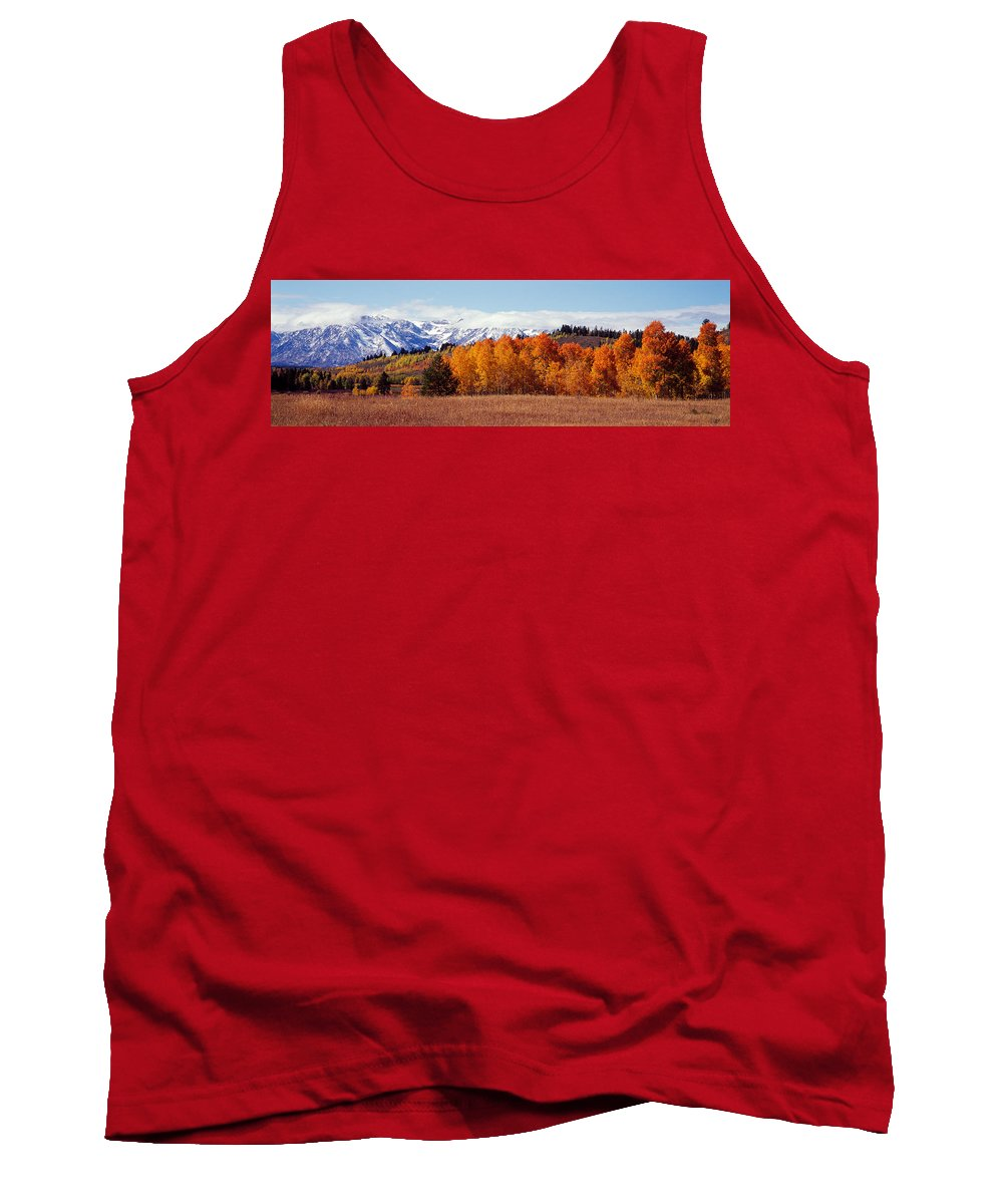 Photography Tank Top featuring the photograph Autumn Grand Teton National Park Wy by Panoramic Images