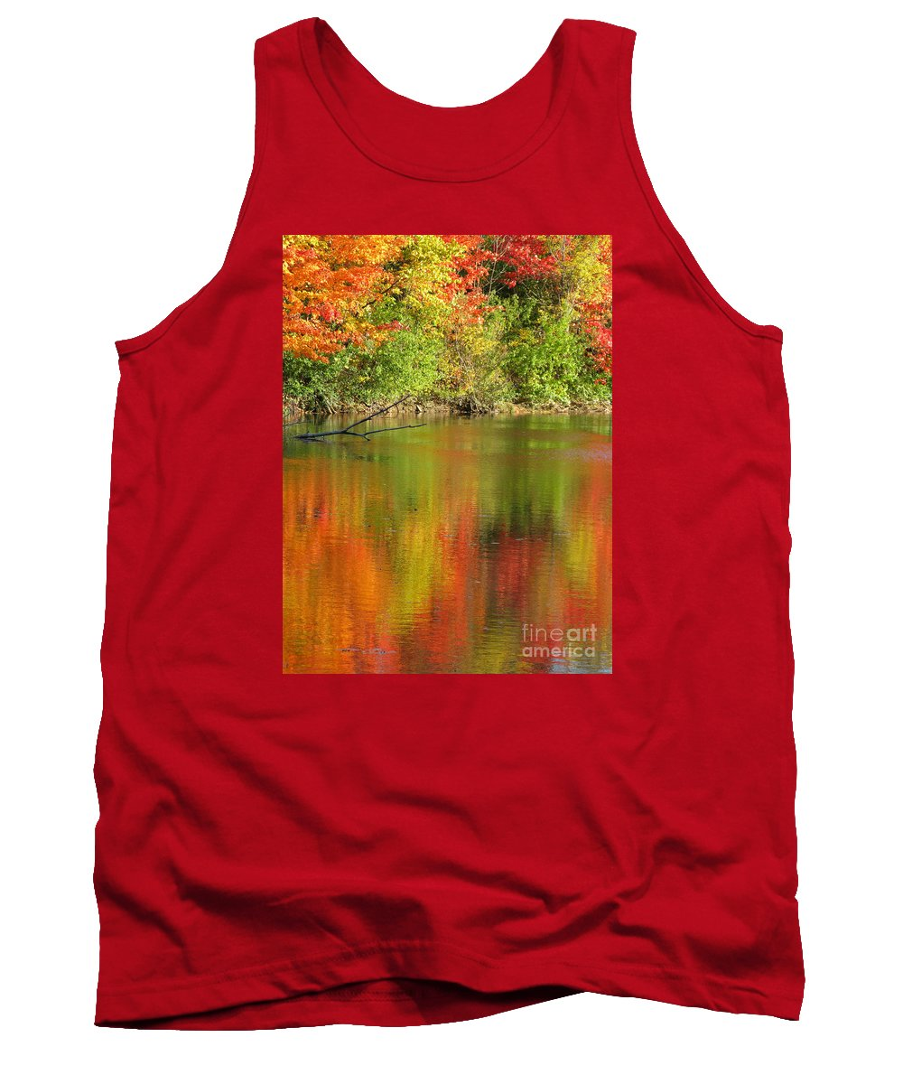 Autumn Tank Top featuring the photograph Autumn Iridescence by Ann Horn