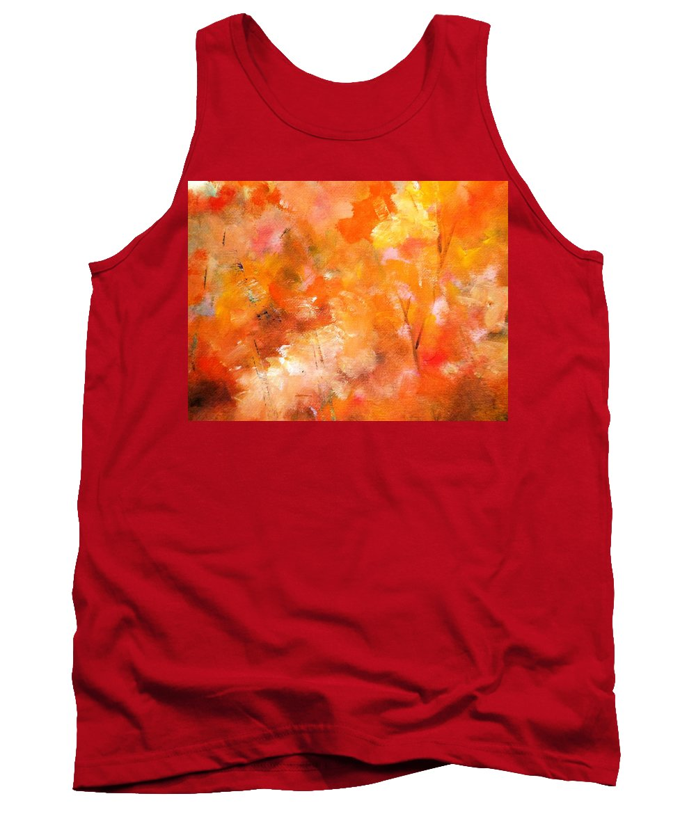 Paintings By Lyle Tank Top featuring the painting Autumn Leaves by Lord Frederick Lyle Morris