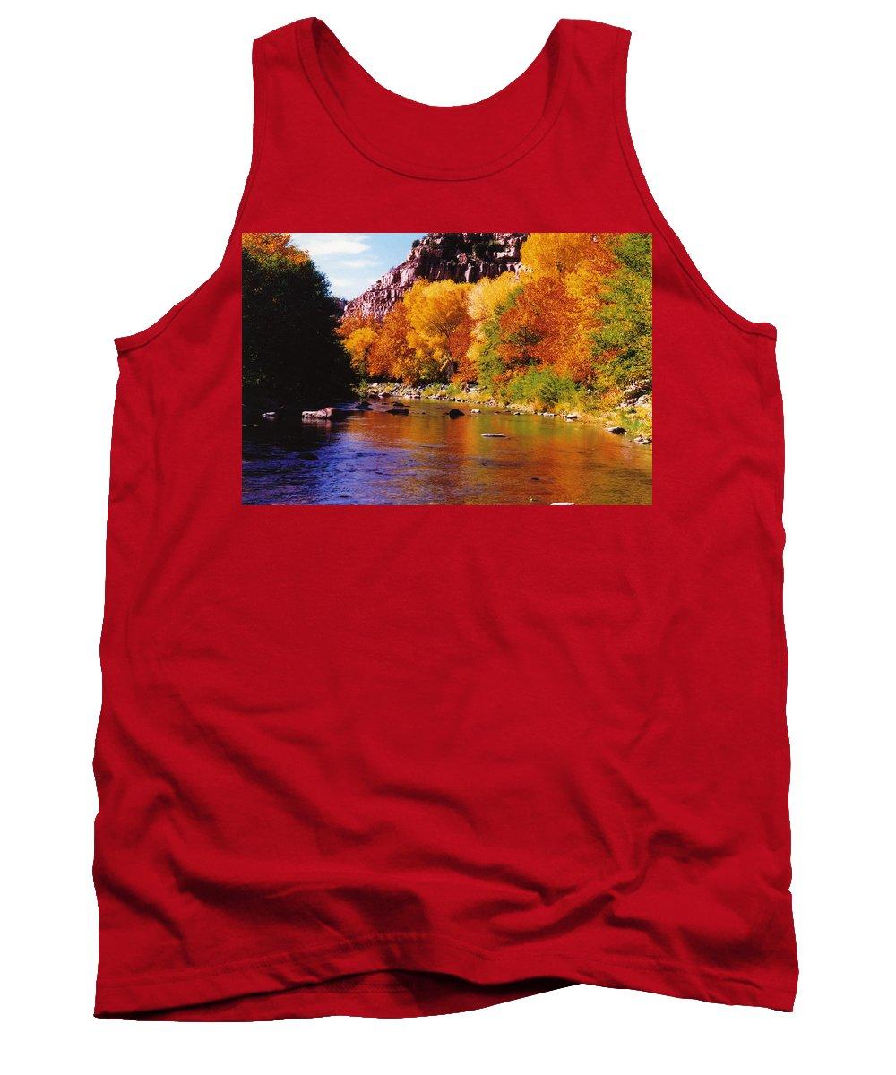 Arizona Tank Top featuring the photograph Autumn Oak Creek by Bob Bradshaw
