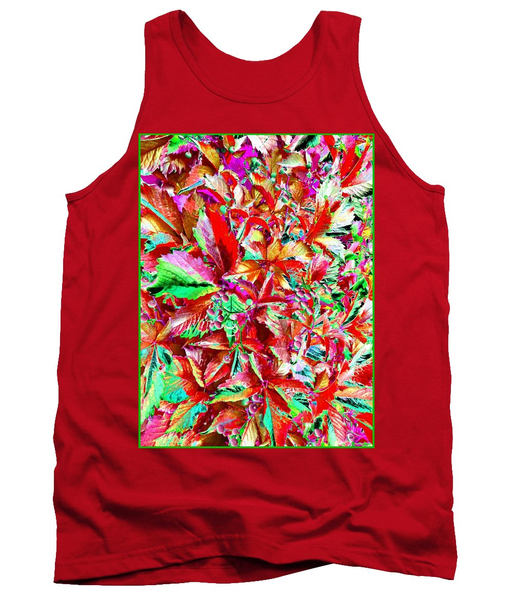 Autumn Virginia Creeper Tank Top featuring the digital art Autumn Virginia Creeper by Will Borden