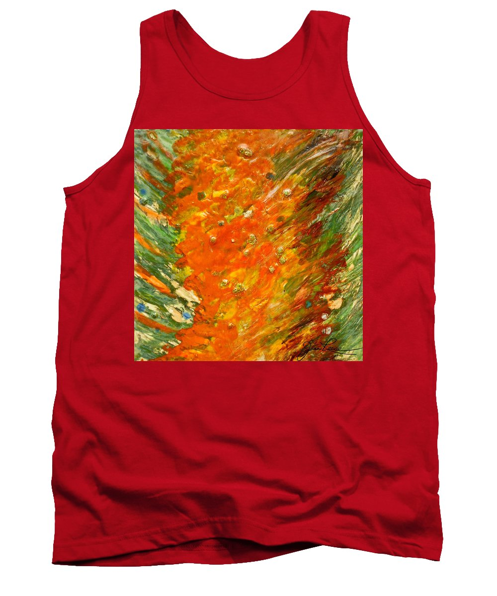 Abstract Painting Tank Top featuring the painting Autumn Wind by Joan Reese