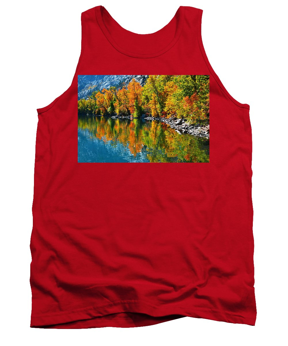Aspen Tank Top featuring the photograph Autumn's Beauty Reflected by Lynn Bauer