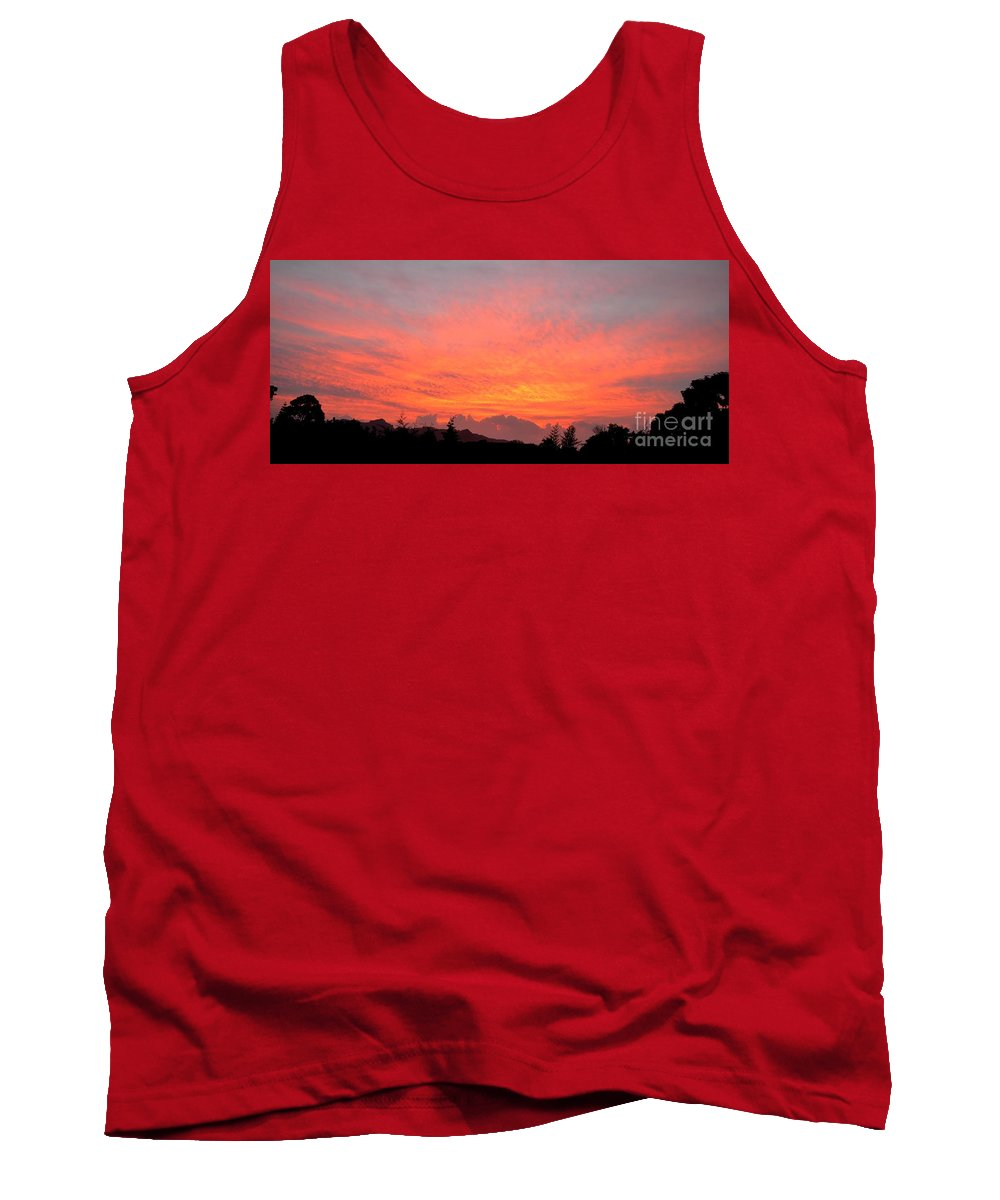 Sunrise Tank Top featuring the photograph Back Yard Sunrise by Mary Deal