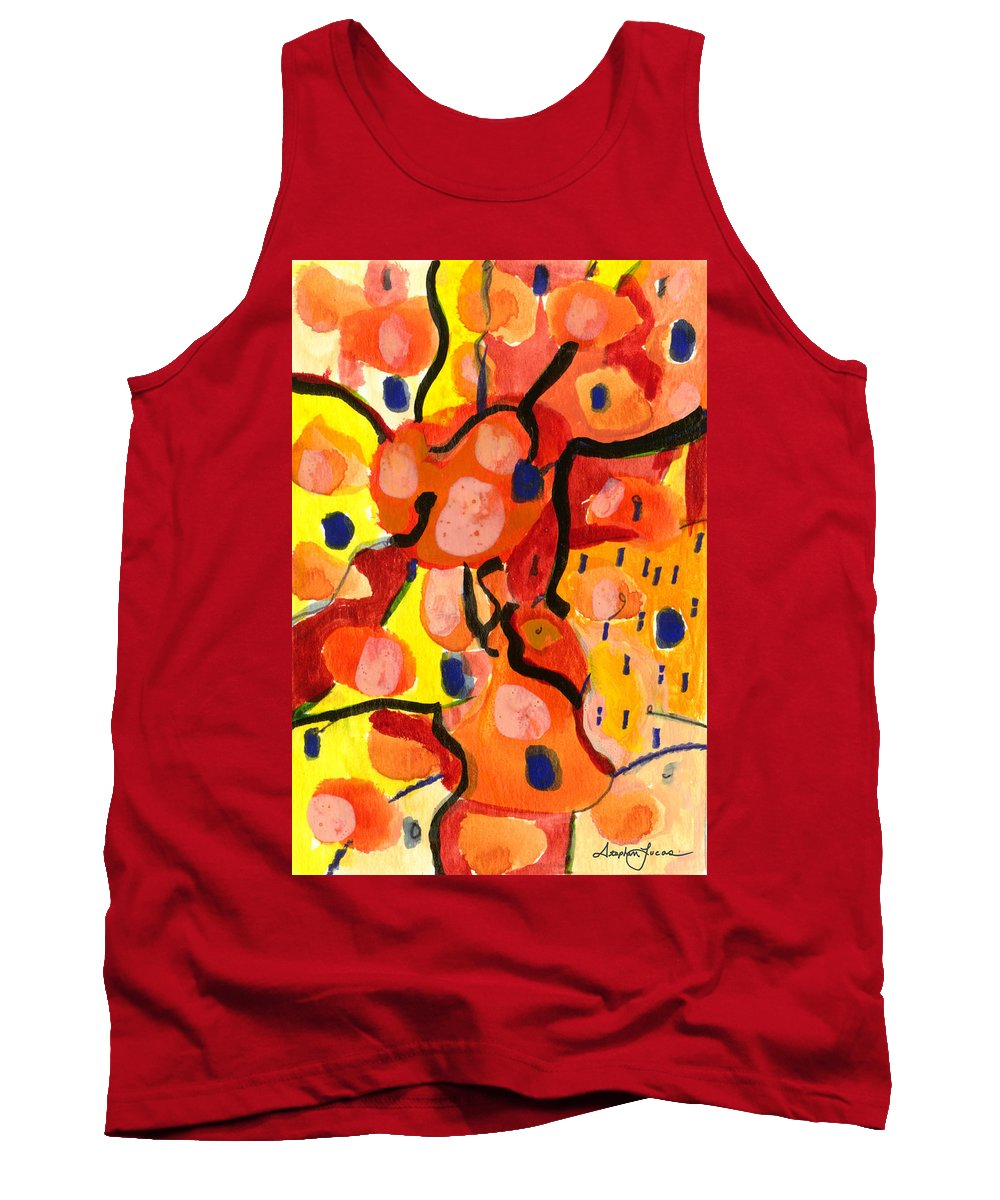 Abstract Art Tank Top featuring the painting Balloons At Mid-day by Stephen Lucas