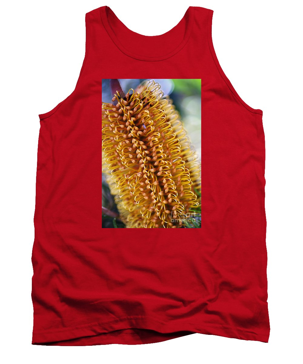 Floral Tank Top featuring the photograph Banksia Flower by Joy Watson