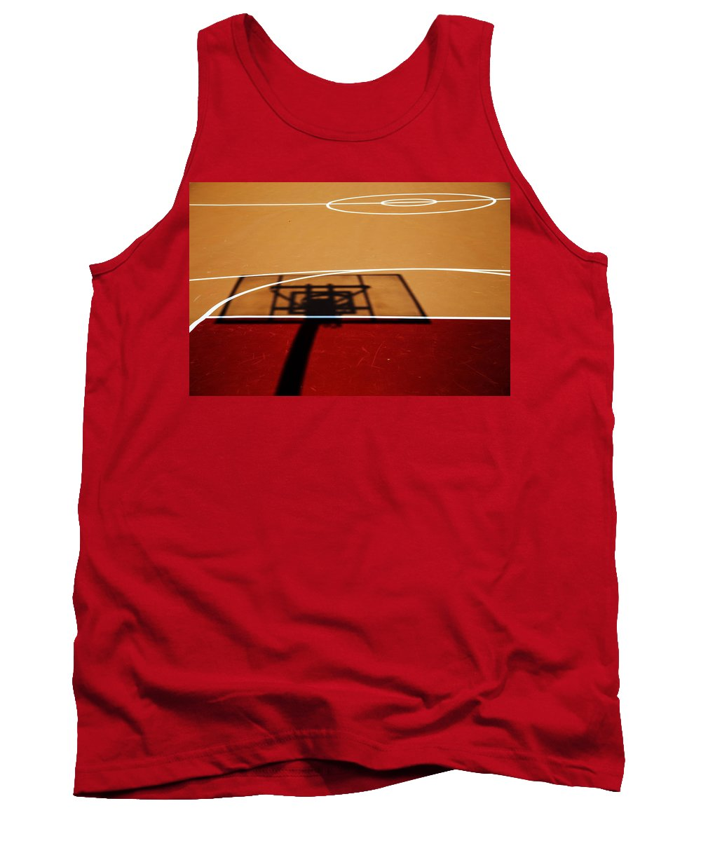 Basketball Tank Top featuring the photograph Basketball Shadows by Karol Livote