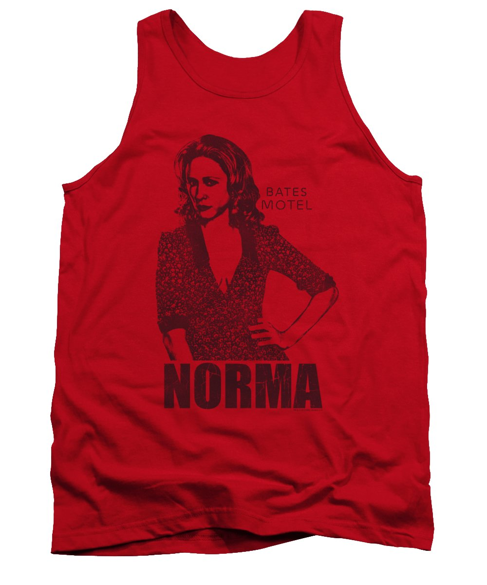 Bates Motel Tank Top featuring the digital art Bates Motel - Norma by Brand A