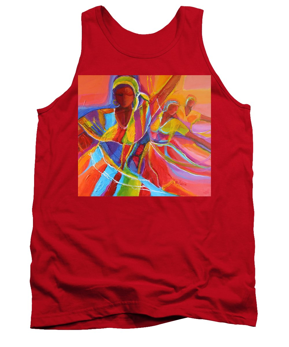 Abstract Tank Top featuring the painting Belle Dancers by Cynthia McLean