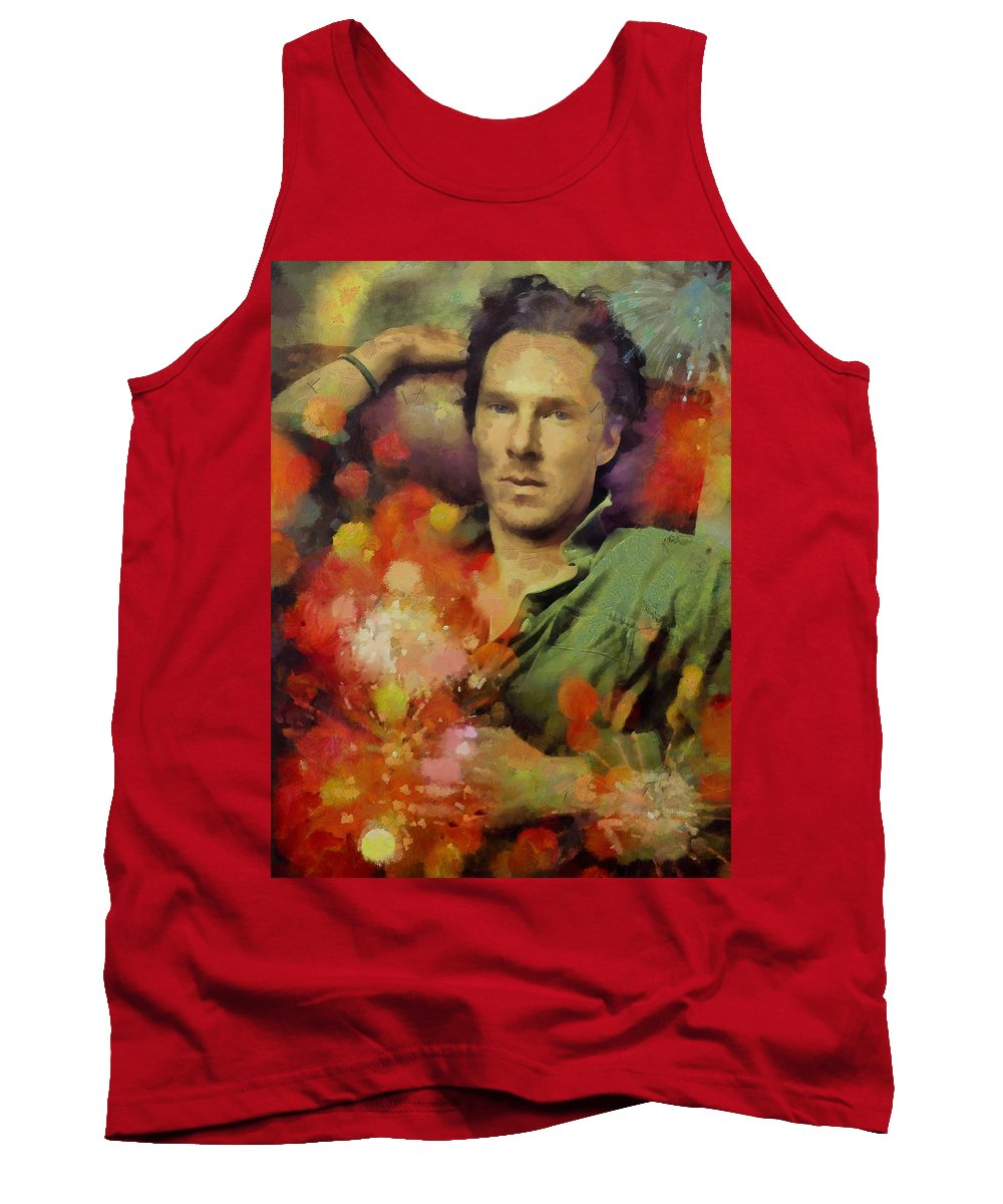 Benedict Cumberbatch Tank Top featuring the painting Benedict by Janice MacLellan