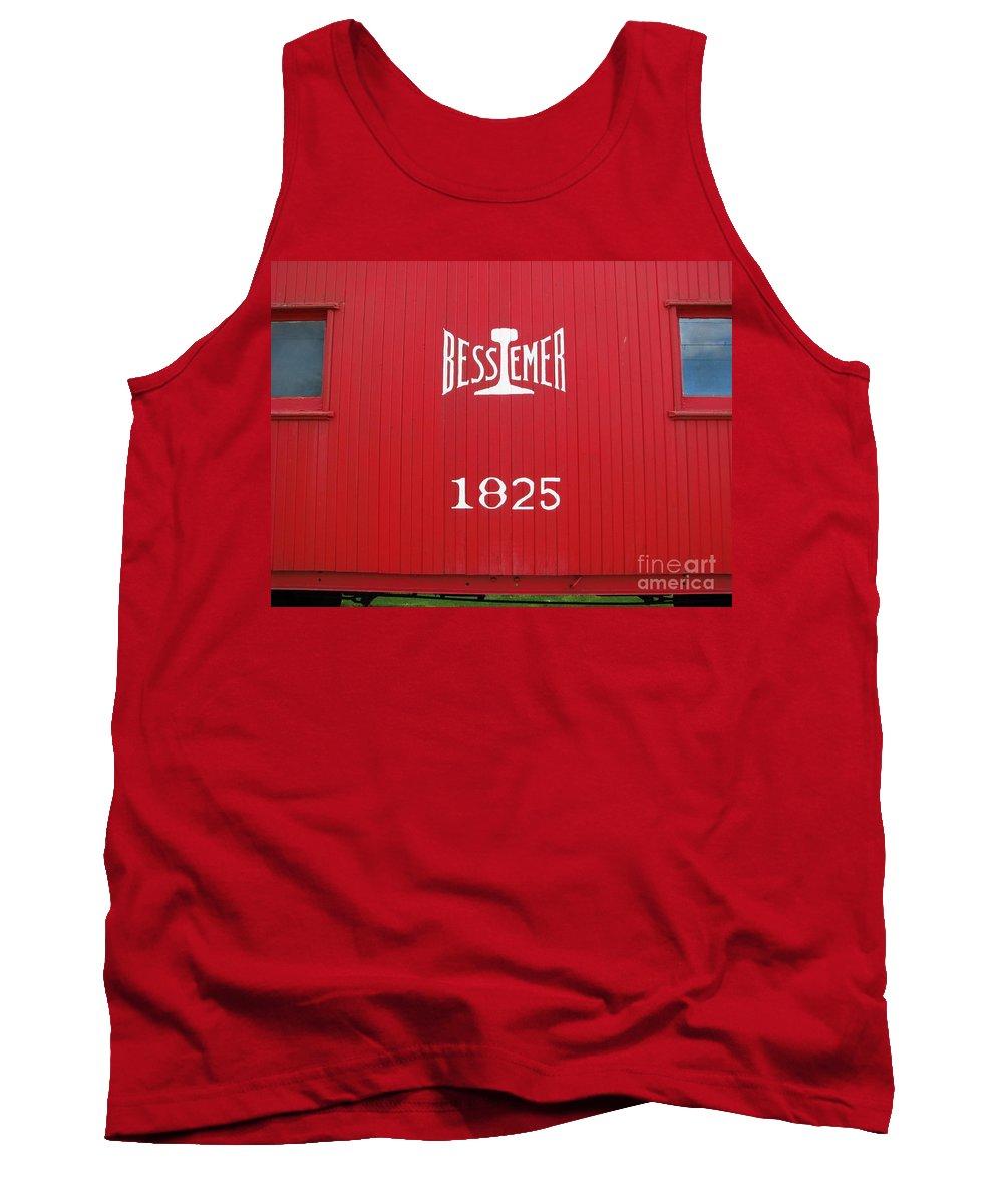 Red Tank Top featuring the photograph Bessemer Train by Michael Krek
