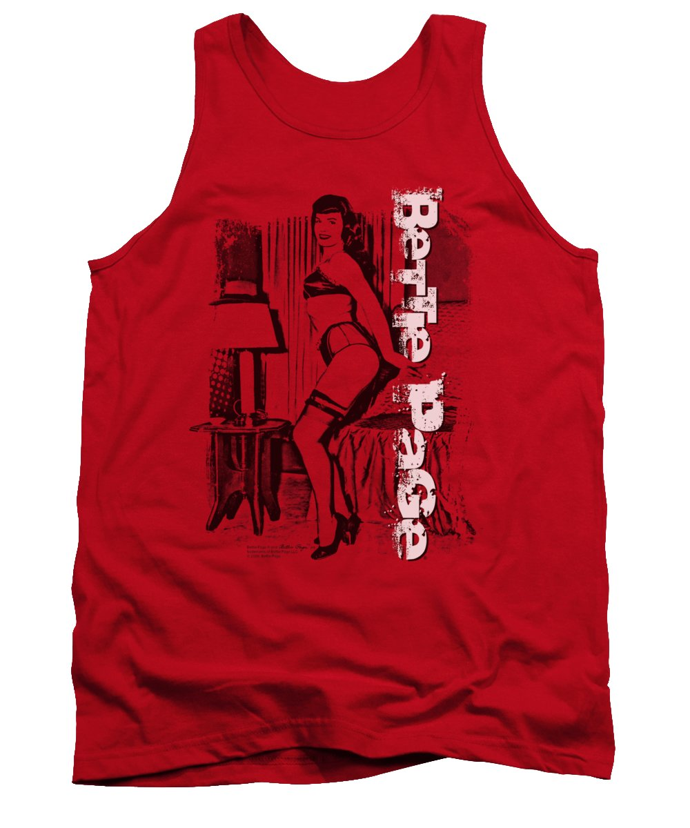 Bettie Page Tank Top featuring the digital art Bettie Page - Shake It by Brand A